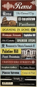 Explore Collection Rome Italy Scrapbook Sticker Sheet by Scrapbook Customs