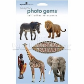 Africa Self-Adhesive Photo Gems by Paper House Productions