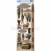 African Safari Cardstock Stickers