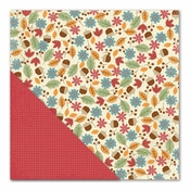 Acorn Hollow Collection Toss & Tumble/Crimson Double-Sided 12 x 12 Scrapbook Paper by Little Yellow Bicycle