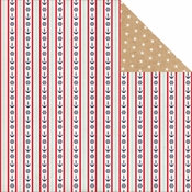 Ahoy There Collection Full Steam Ahead Double-Sided 12 x 12 Scrapbook Paper by Carta Bella