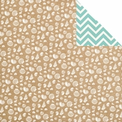 Ahoy There Collection Seashells Double-Sided 12 x 12 Scrapbook Paper by Carta Bella