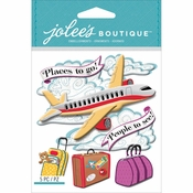Airplane Avion Scrapbook Embellishment by Jolee's Boutique