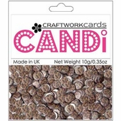 "Cheetah 3/8"" Candi Dots by Craftworkcards - 10 grams (.35 oz)"