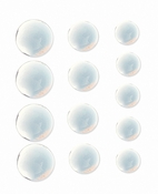 Clear Large Round Domed Crystal Stickers (12mm, 15mm, 18mm) by Mark Richards USA - Pkg. of 13
