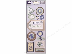 Cloud 9 Design Travel Collection Chipboard Accent Stickers - 12 pieces