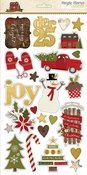 Cozy Christmas Collection Chipboard Sticker Sheet by Simple Stories - 24 Chipboard Stickers