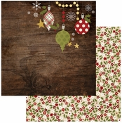 Cozy Christmas Collection Deck The Halls 12 x 12 Double-Sided Scrapbook Paper by Simple Stories