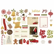 Cozy Christmas Collection Ephemera Bits and Pieces Die-Cuts by Simple Stories - Pkg. of 25