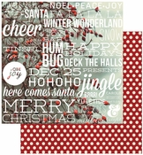 Cozy Christmas Collection Let It Snow 12 x 12 Double-Sided Scrapbook Paper by Simple Stories