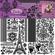Dazzles Collection Vintage Treasure Stickers by Hot Off The Press