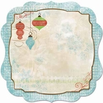 Blitzen Collection Die-Cut Ornament Scrapbook Paper by BoBunny