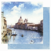 Destination Europe Collection Venice Italy Glitter Double-Sided 12 x 12 Scrapbook Paper by Best Creation Inc.
