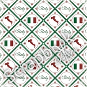 Discover Italy Collection Discover Italy 12 x 12 Scrapbook Paper by Scrapbook Customs