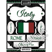 Discover Italy Collection Italy Scrapbook Stickers by Scrapbook Customs