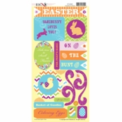 Easter-Rific Collection Die Cut Cardstock Stickers by Moxxie