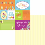 Easter-Rific Collection Easter Project Cards Double-Sided 12 x 12 Scrapbook Paper by Moxxie