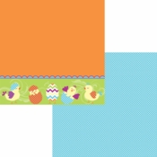 Easter-Rific Collection Just Hatched Double-Sided 12 x 12 Scrapbook Paper by Moxxie