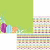 Easter-Rific Collection Work of Art Double-Sided 12 x 12 Scrapbook Paper by Moxxie