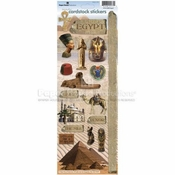 Egypt  Cardstock Sticker Sheet