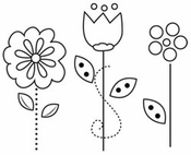 For Peep's Sake Collection Flowers Clear Acrylic Stamp