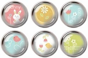 For Peep's Sake Collection Raindrop Brads - Pkg. of 6