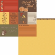 Forever Fall Collection Fall Cards Double-Sided 12 x 12 Scrapbook Paper by Moxxie