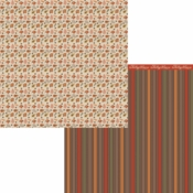 Forever Fall Collection Foliage Double-Sided 12 x 12 Scrapbook Paper by Moxxie