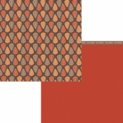 Forever Fall Collection Unbe-leaf-able Double-Sided 12 x 12 Scrapbook Paper by Moxxie