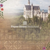 Germany Collection Neuschwanstein Castle 12 x 12 Scrapbook Paper by Paper House Productions