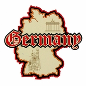 Germany Country Name & Map Laser Cut Embellishment by Paper Wizard