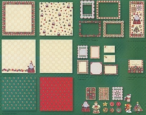 Holiday Christmas Quilt Scrapbooking Kit by Carol Wilson Fine Arts (c)