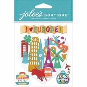 I Love Europe Scrapbook Embellishment by Jolee's Boutique