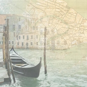 Italy Collection The Grand Canal 12 x 12 Scrapbook Paper by Paper House Productions