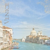 Italy Collection Venice Collage 12 x 12 Scrapbook Paper by Paper House Productions