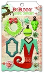 Blitzen Collection Layered Chipboard Embellishments by BoBunny - Pkg. of 10