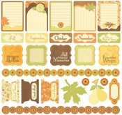 Orchard Harvest Collection 12 x 12 Cardstock Sticker Sheet by Creative Imaginations