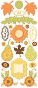 Orchard Harvest Collection 5 x 12 Scrapbook Sticker Sheet by Creative Imaginations