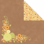 Orchard Harvest Collection Autumn Bouquet 12 x 12 Double-Sided Scrapbook Paper by Creative Imaginations
