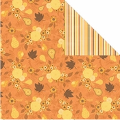 Orchard Harvest Collection Autumn Harvest12 x 12 Double-Sided Scrapbook Paper by Creative Imaginations