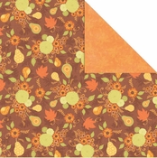 Orchard Harvest Collection Fall Harvest 12 x 12 Double-Sided Scrapbook Paper by Creative Imaginations