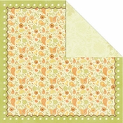 Orchard Harvest Collection Orchard Scallop 12 x 12 Double-Sided Scrapbook Paper by Creative Imaginations