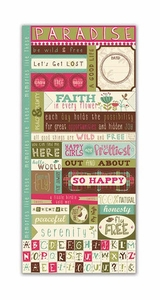 Paradise Collection Fresh Verse Cardstock Sticker Sheet by Little Yellow Bicycle - 72 Pieces