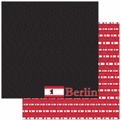 Passports Collection Berlin Germany 12 x 12 Double-Sided Scrapbook Paper by Reminisce