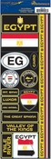 Passports Collection Egypt Die Cut Stickers by Reminisce