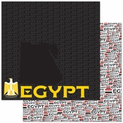 Passports Collection Egypt Double-Sided 12 x12 Scrapbook Paper by Reminisce