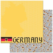 Passports Collection Germany Double-Sided 12 x 12 Scrapbook Paper by Reminisce