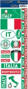 Passports Collection Italy Self-Adhesive Sticker Sheet by Reminisce