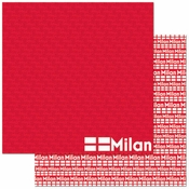 Passports Collection Milan Italy Double-Sided 12 x12 Scrapbook Paper by Reminisce
