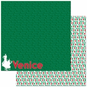 Passports Collection Venice Double-Sided 12 x 12 Scrapbook Paper by Reminisce